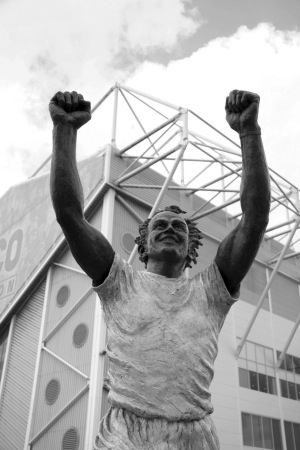 The Billy Bremner Statue a focal point for Leeds United fans