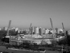 Dynamo Moscow's imposing home....a communist manifesto?