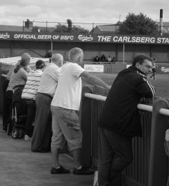 A classic non-league crowd.....spot the women