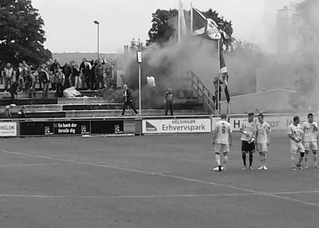 No mirrors, but plenty of smoke...Fremad Amager's happy band make their mark as their players take notice