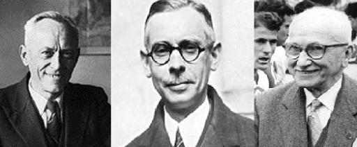 Three wise men...Hanot, Rimet and Delaunay