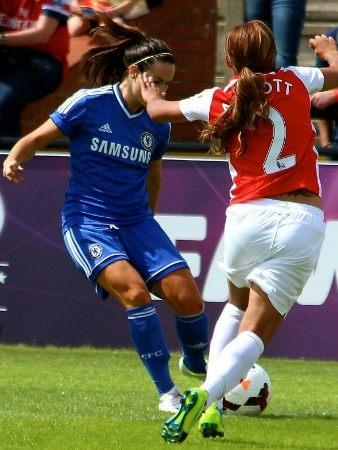 Action from the recent Arsenal v Chelsea clash