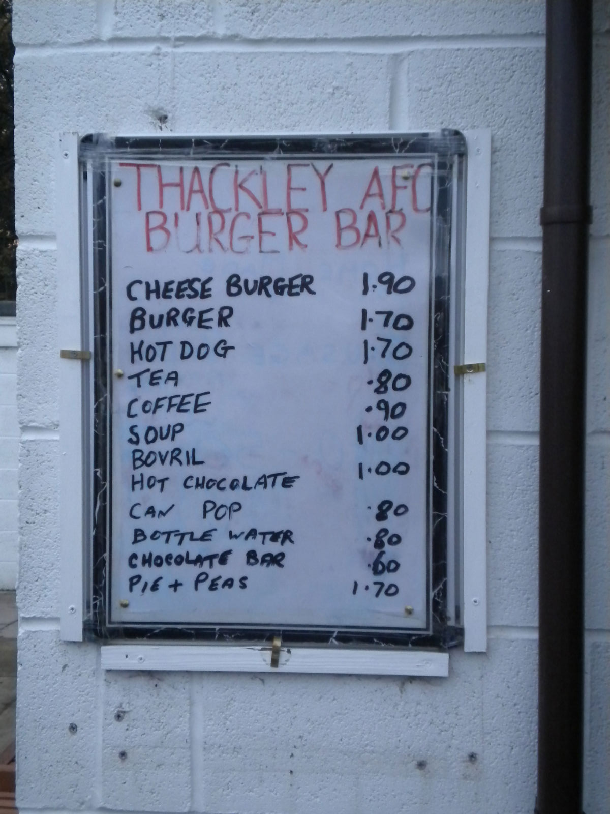 Non-League football and food….forget it or simplify it | Game of the ...