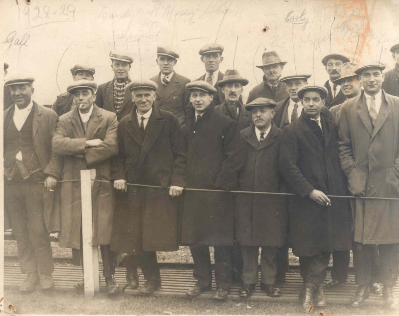 Top Field regulars in 1928, the year the club moved back to the ground after a 17- year absence