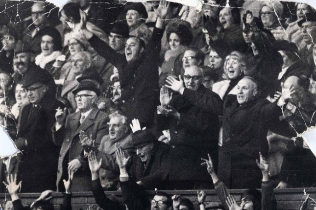Bill Shankly celebrates Liverpool's 1973 success