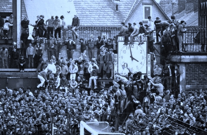 Happier, more crowded times at Everton...the spirit of '85