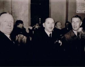 Giants of the game (l to r): Herbert Chapman, Hugo Meisl and Jimmy Hogan