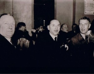 Giants of the game (l to r): Herbert Chapman, Hugo Meisl and Jimmy Hogan
