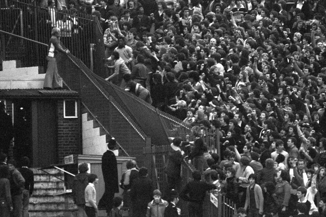 Chelsea v Tottenham 1978-79 at Stamford Bridge - a typical scene from the period...