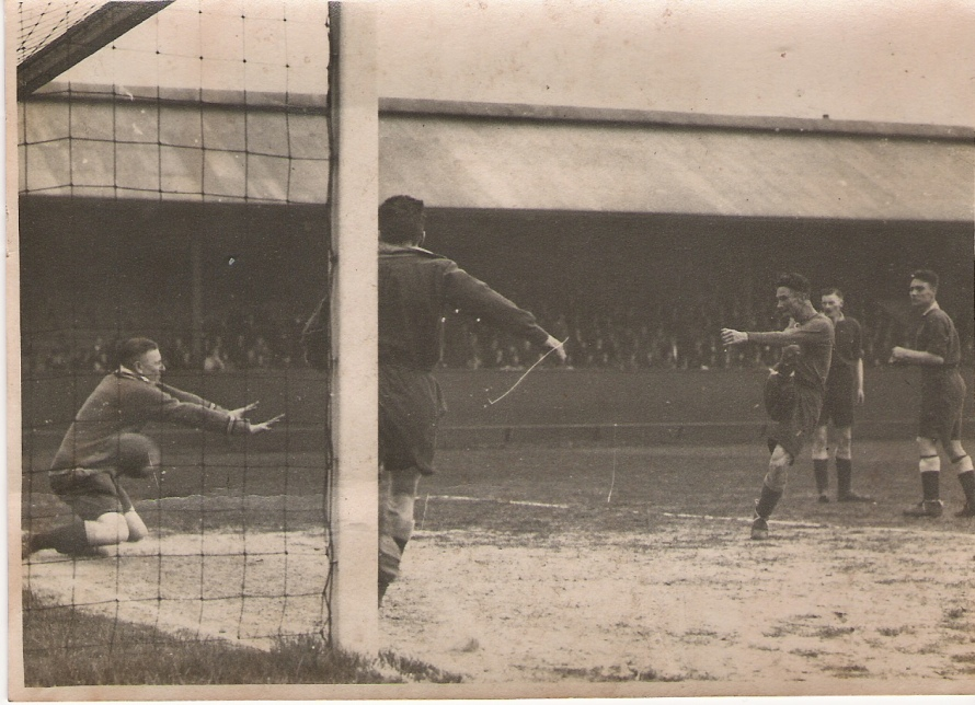 Action from the 1932 AFA Senior Cup final