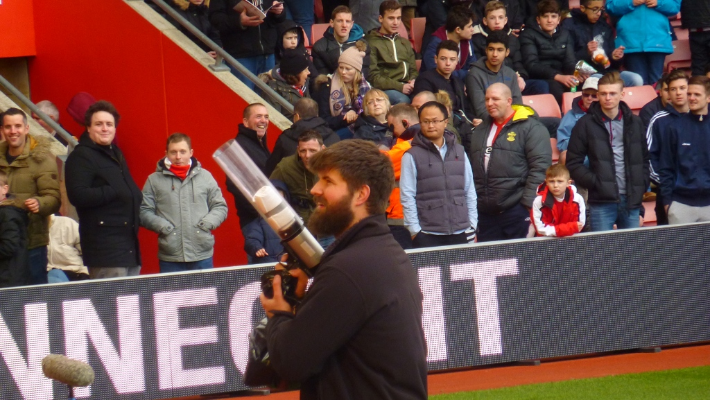 Half-time entertainment - picking off the fans...