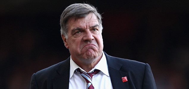 LONDON, ENGLAND - MAY 07:  West Ham United manager Sam Allardyce reacts during the nPower Championship Playoff Semi Final 2nd Leg between West Ham United and Cardiff City at the Boleyn Ground on May 7, 2012 in London, England.  (Photo by Ian Walton/Getty Images)