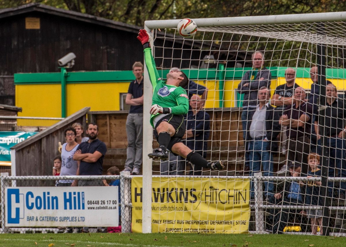 The Merthyr keeper had no chance...Photo by Peter Else