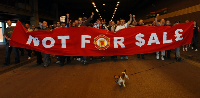 Soccer - Manchester United Takeover Bid by Malcolm Glazer - Manchester City Centre