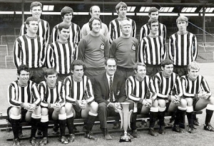 Bobby Moncur, Newcastle United, with the Fairs Cup